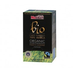 Molinari ORGANIC & FAIRTRADE 100% Arabica pod