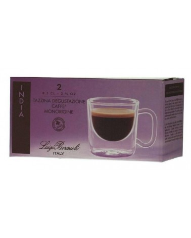 Luigi Bormioli Thermic Glass INDIA espresso csésze 8,5 cl, 2 db